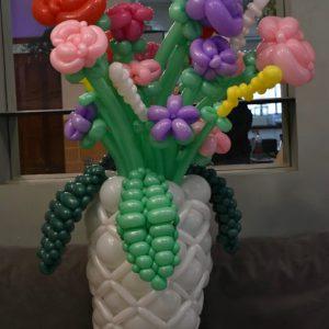 סידור בלונים אגרטל פרחים